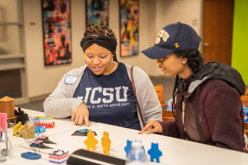 JCSU Students at the 2nd Annual Mini Makerspace Conference